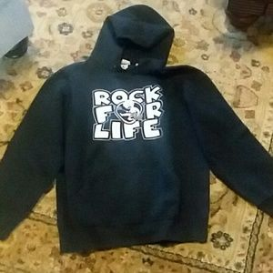 Pullover sweat shirt with hood